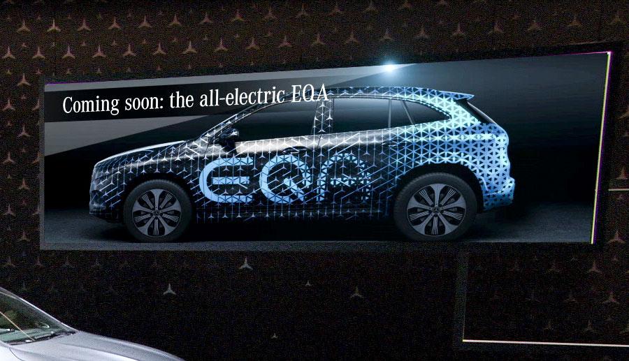 Aus Schrägheck wird Crossover – Mercedes EQA Teaser